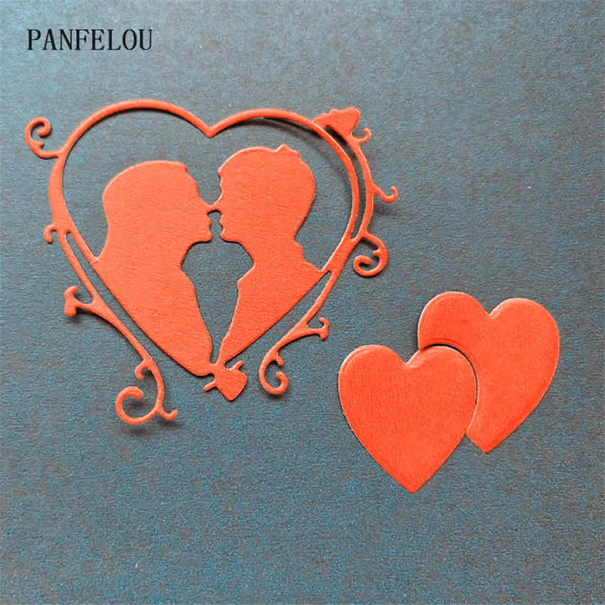 PANFELOU Metal craft Couples photo frame paper die cutting dies for Scrapbooking/DIY Christmas wedding Halloween cards
