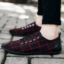 Summer Mens Sports Shoes 2019 Fashion Plaid Canvas Breathable Non-slip Casual New Flat
