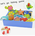 Free Shipping!Baby Toy Fishing Magnetic Puzzle Game In a Box  Child Educational Puzzle Toys Wooden Toys  Gift