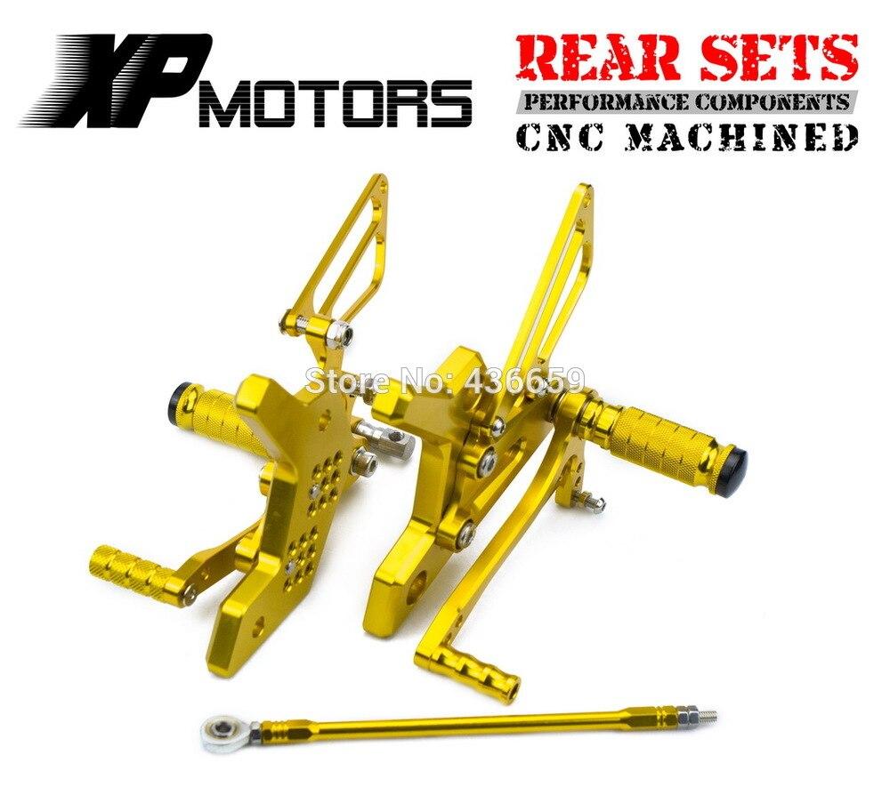 Or course CNC Kit de contrôle des pieds réglable repose-pieds montages pour siège arrière pour Kawasaki Z 750 Z750 2004 2005 2006