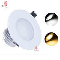 Luces LED descendentes de 9 W moderna Luz de punto empotrada SMD oculta techo aluminio AC110/220 V ahorro de energía para el hogar lámpara de la dinastía de iluminación