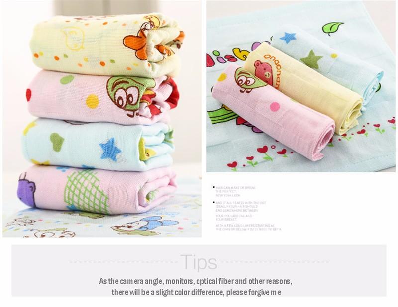 Square Cotton Cartoon Baby Bath Towel (13)