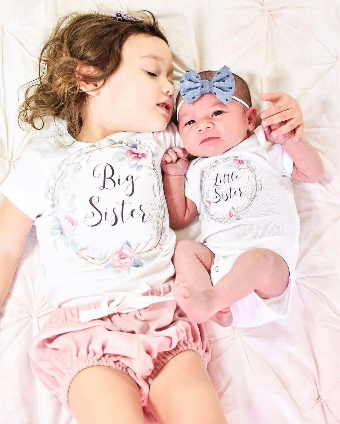 Одежда для малышей; летняя одежда для маленьких девочек; одежда для маленьких и больших сестер; комбинезон; одежда; футболка; одинаковые ком...