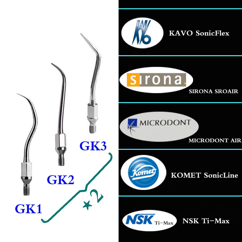 6 pieces set Dental Scaler Tip GK1 GK2 GK3 for KAVO SONICFLEX SIRONA SROAIR KOMET SonicLine