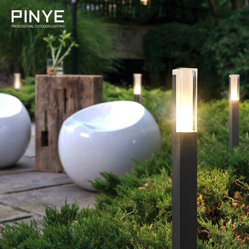 PINYE extérieur pelouse lampe jardin Strawhat ampoule LED route cour solaire lumière noir gris rue chaude éclairage lampe couloir PY021