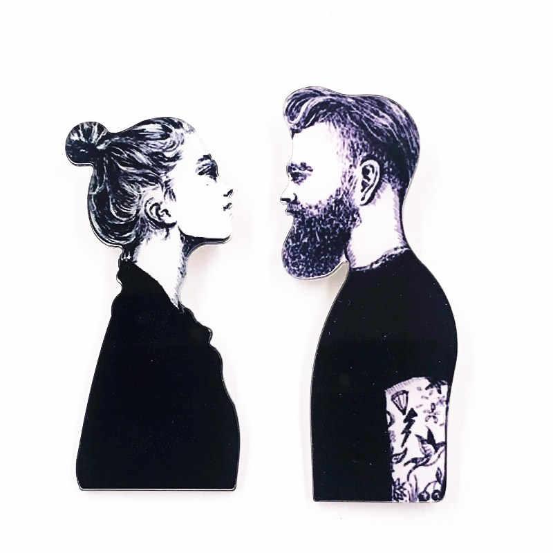 1 Buah Model Wanita Ikon Kecantikan Acrylic Bros untuk Wanita Hadiah Kualitas Tinggi Pin Lencana T-shirt Topi Syal Aksesoris Pakaian