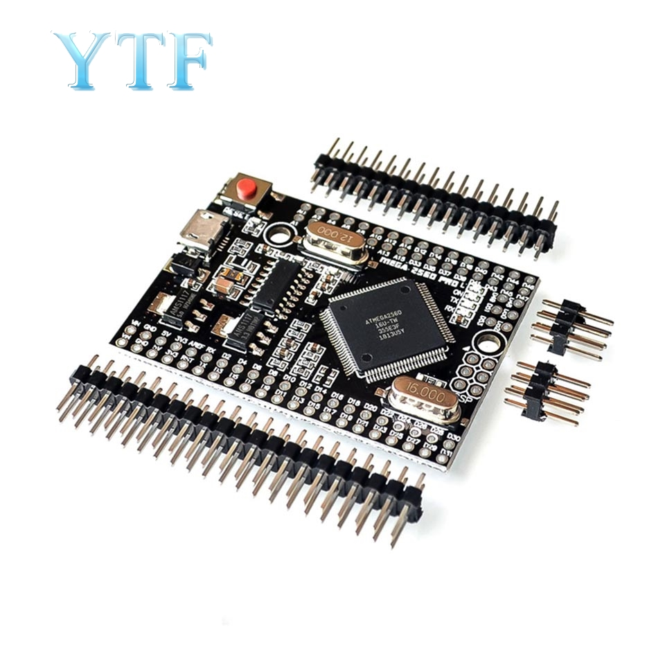 Mega 2560 PRO (Embed) CH340G/ATmega2560-16AU, With Male Pinheaders. Compatible
