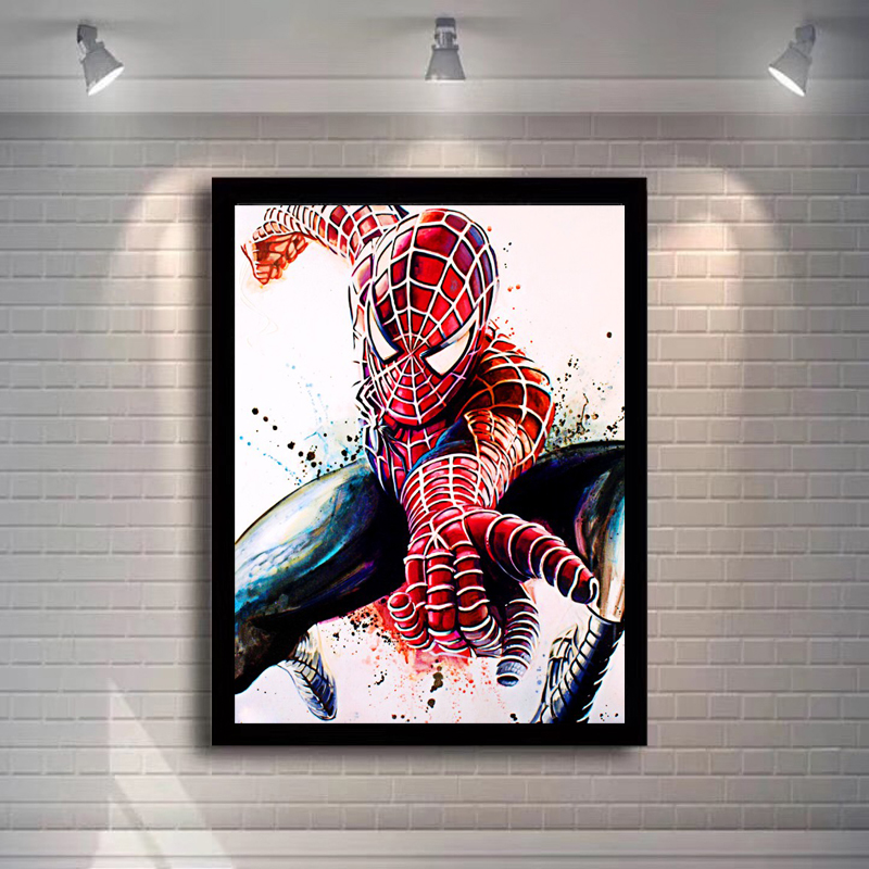 Movie Portrait Art Posters And Prints Wall Art Canvas Painting Super Hero Spiderman Decorative Pictures For Living Room No Frame