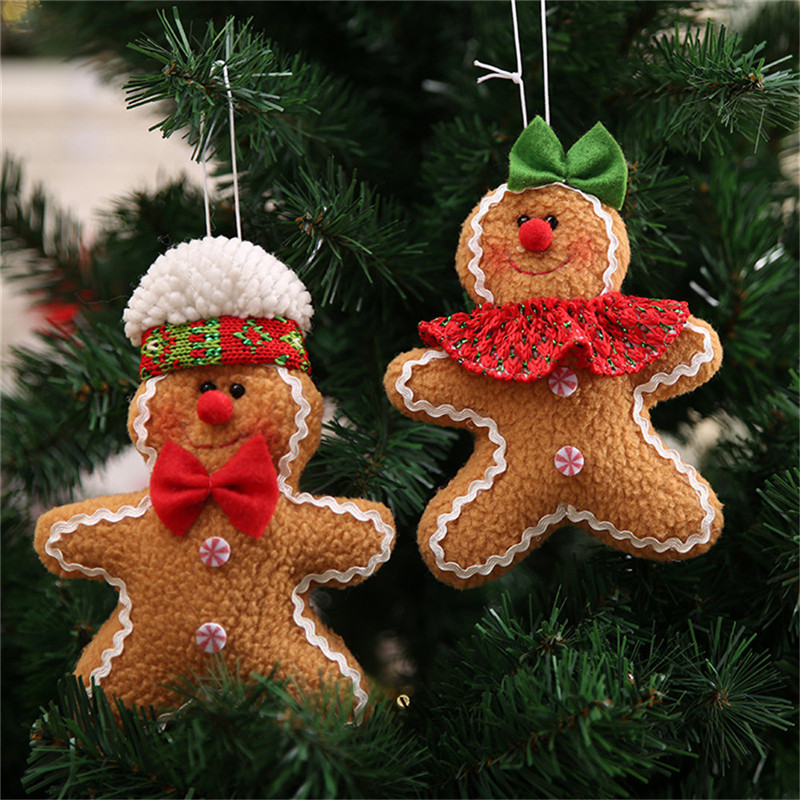 Cute Gingerbread Man Shaped Christmas Doll Ornament ...