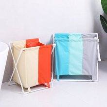 foldable dirty laundry basket organizer collapsible three grid home laundry hamper sorter waterproof laundry basket large