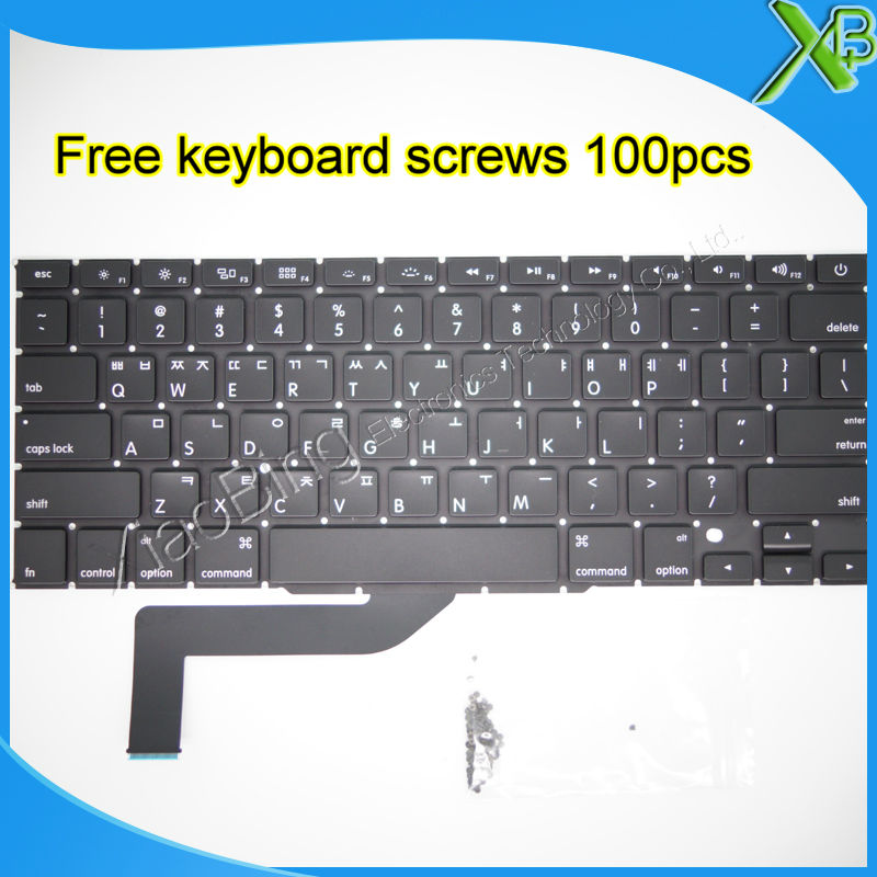 "Brand New For MacBook Pro Retina 15.4 inch"" A1398 Korean keyboard+10keyboard screws 2013-2015 Years"""
