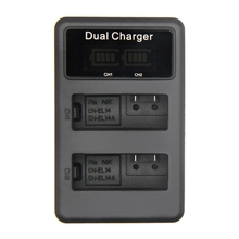 Lcd Dual Usb Battery Charger For En-El14 En-El14A Enel14 Camera Battery Pack For Nikon P7800,P7100,D3400,D5500,D5300,D5200,D32 bc 65 recharger battery for nikon surveying equipment nikon bc 65 battery pack