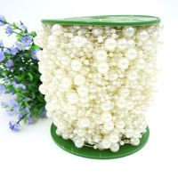 Fishing Line Artificial Pearls Beads Chain String Garland Flowers DIY Wedding Party Decoration