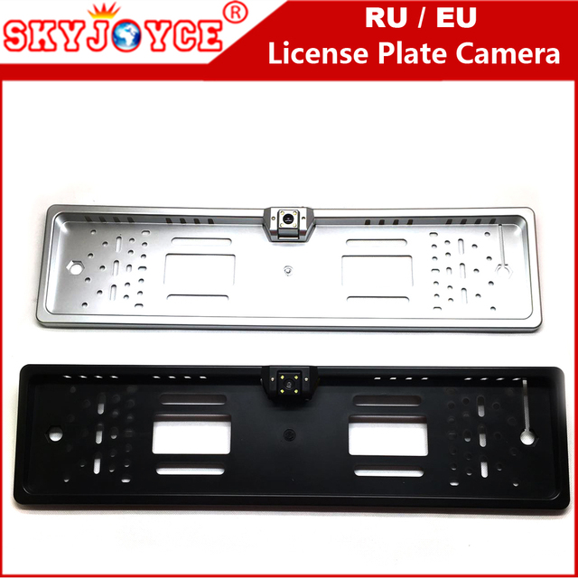 SKYJOYCE CCD HD Rear View Camera European License Plate Frame Camera Light  LED 170 Backup Parking