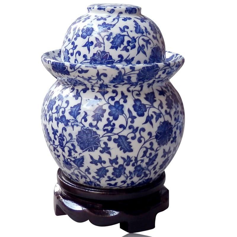 Small Jingdezhen Lead Free Ceramic Porcelain Pickle Vegetable Jar
