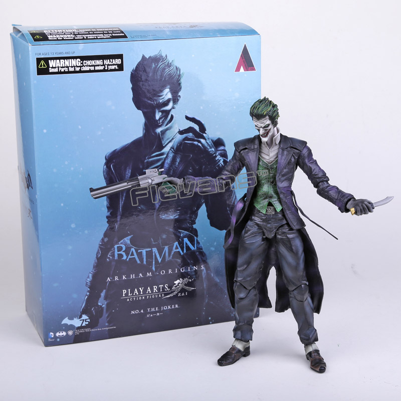 Play Arts KAI Batman Arkham Origins NO.4 The Joker PVC Action Figure Collectible Toy 26cm neca dc comics batman arkham origins super hero 1 4 scale action figure