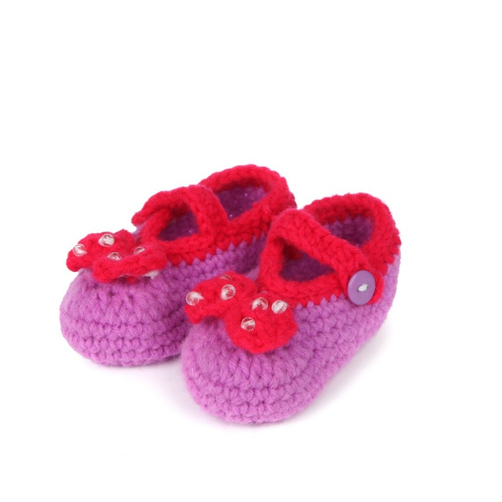fashion Handmade Sock Casual Crib Crochet baby Walker children footwear Knit Infant Girl/Boy Baby Cute Woolen Shoes 5BS28