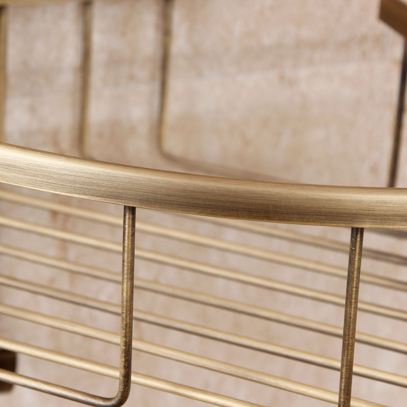 Европейские антикварные Ванная комната туалет Медь латунь Медь Треугольники Корзина Висит Ванная комната углу Полки Аксессуары для ванной...