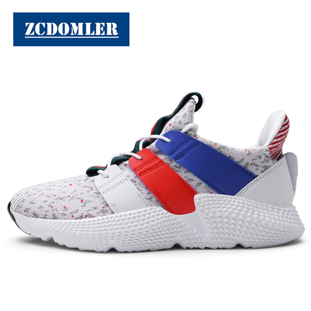 ZCDOMLER Men Casual Shoes 2019 Top Quality Men Trainers Shoes White Sneakers Schuhe Herren Black Chaussure Baskets Homme 39-47