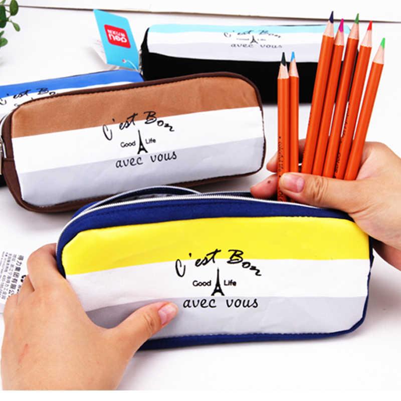 Распродажа большой пенал из ткани сумка для школы девочек мальчиков канцелярский товар 66615 Deli бренд