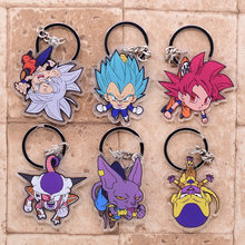 New Dragon Ball Key Ring Cute Anime Chain Pendant Cartoon Accessories Keyring Goku Super Saiyan