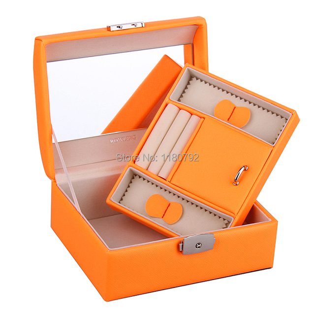 ROWLING Orange Jewellery Tray Jewelry Box Rings Beads Earring