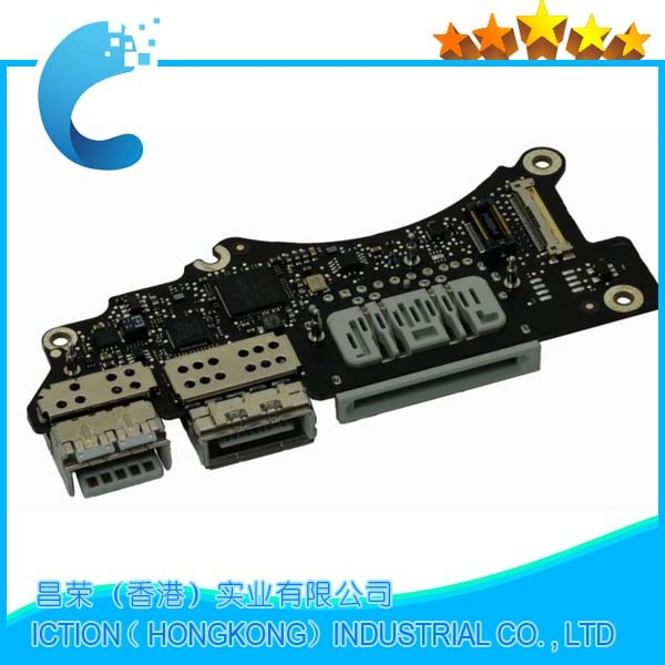 Original A1398 I/O Power Board For Apple Macbook Pro 15'' Retina A1398 I/O Power Dock Board USB Audio Port 2012 Year for macbook air usb i o audio board 820 3213 a 11 laptop a1465 power dc jack md223 md224 2012