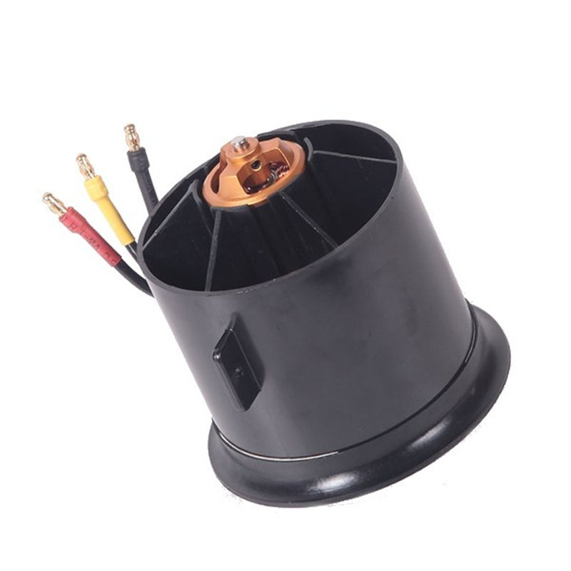 FMS 70mm 12 Blades Ducted Fan EDF With 2845 KV2750 Motor For RC Airplane