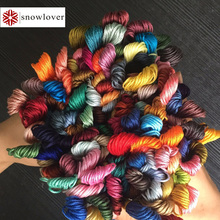 Снеговик, рукоделие вышивка 1,2 м разноцветная опция DMC776-818 10 шт./партия вышивка крестиком хлопковое шитье, моток пряжи вышивка нить
