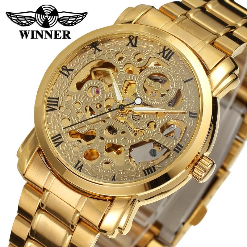 2017 Gewinner Neue Serie Getriebe Lünette Mode Lässig Design Voller Gold Uhr Männer Top Marke Luxus Automatische Montre Uhr Herren Uhren