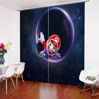 3D Window Curtains Mario Print for Living Room Bedding Room Home Decor Tapestry Wall Carpet Drapes Cotinas #MLA 4