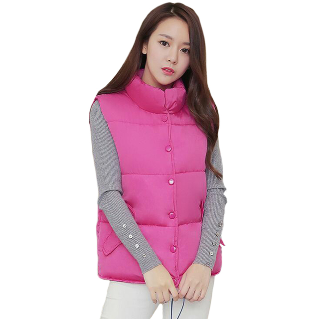 Tengo Autumn/winter Women Cotton Waistcoat Female Vest Down Jacket