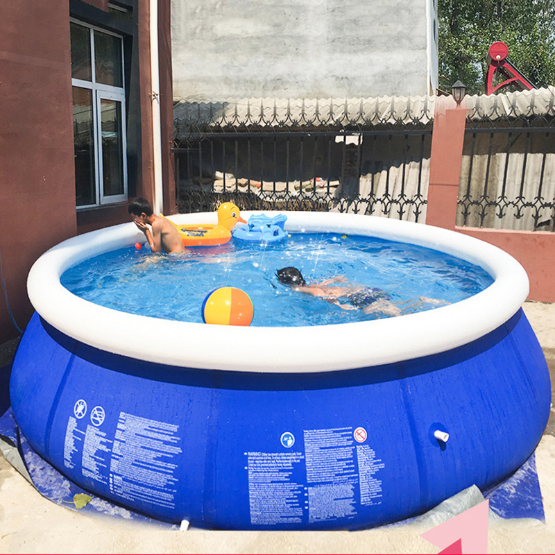 Family Inflatable Pool Above Ground Swimming Pool For Kids Adults Children Blue Garden Outdoor Play Pool Cover Piscine Gonflable