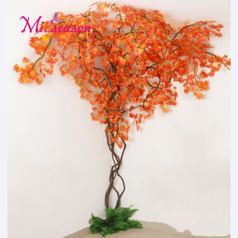 1 Set green Eucalyptus leaves landscaping indoor living room wall fake flower tree rattan vine plant decoration for home store - 4