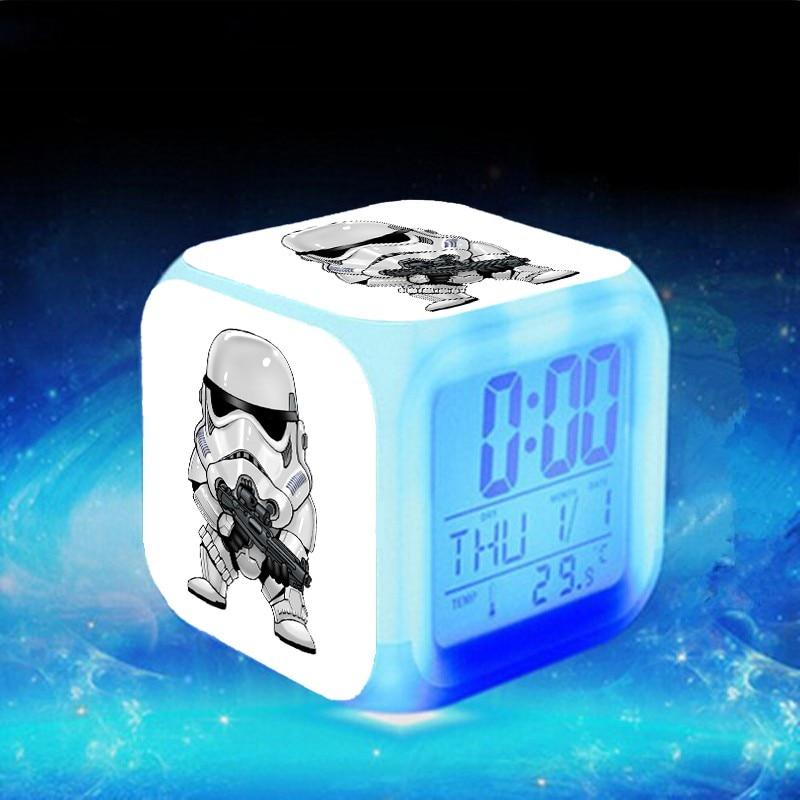 Star Wars пробуждает Reloj Despertador reveil Enfant BB-8 Будильник цифровой светодиодный клок Relogio De Mesa проснуться часы