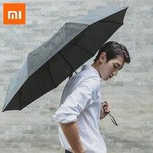شاومي 90Fun مظلة ثلاثة للطي مظلة الشمس الشمس حماية الأشعة فوق البنفسجية خفيفة مظلة كبيرة UPF40 + للجنسين المحمولة