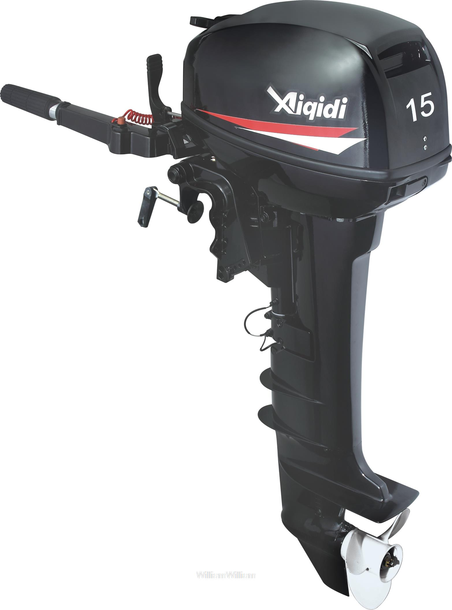 Free Shipping Anqidi 2 Stroke 15 Hp Water Cooled Outboard