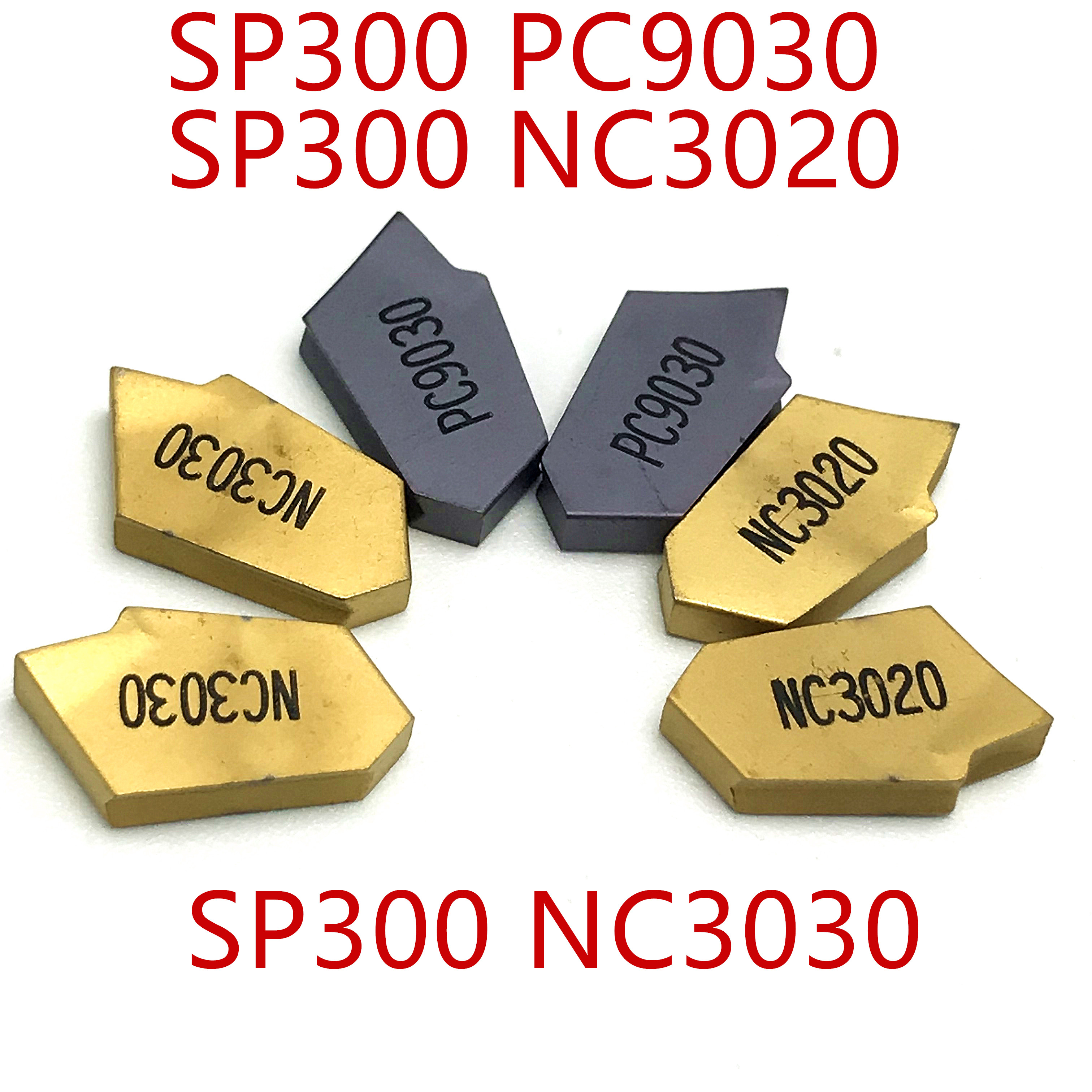10p SP300 NC3030 grooving carbide inserts machinery tools coated with PVD