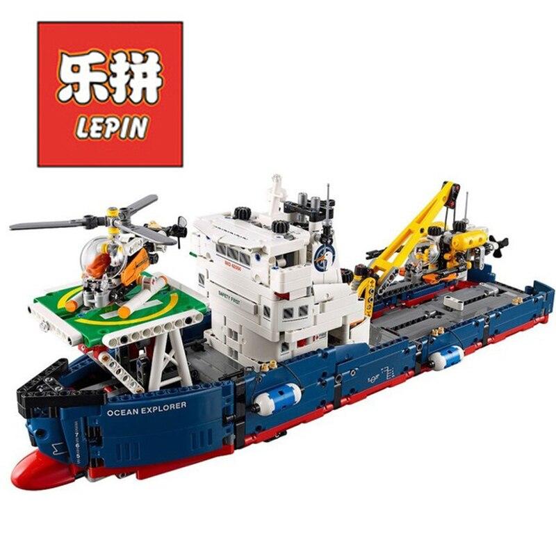 In Stock DHL Lepin Sets Technic Figures 1347Pcs 20034 Ocean Explorer Model Building Kits Blocks Bricks Educational Kid Toy 42064 in stock dhl lepin sets 37003 1959pcs