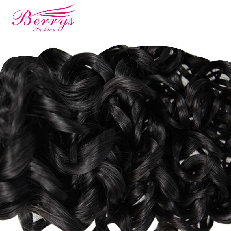 Berrys de paquetes de cabello virgen peruano Delas 4 unids/lote armadura del pelo humano sin procesar Natural colores puede ser teñido enredo libre