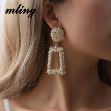 Big Drop Earrings for Women Geometric Statement female 2019 Fashion Modern Jewelry hanging kolczyki oorbellen