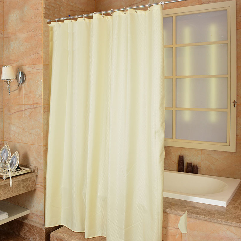 Modern Style Polyester Geometric Yellow Shower Curtain Mildew Douchegordijn Waterproof Bathroom