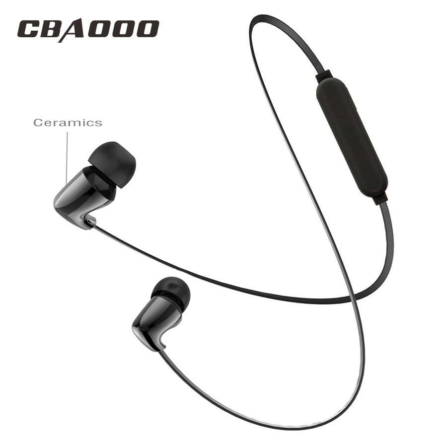 CBAOOO TC01S Ceramic Bluetooth Earphone Bass In Ear wireless Stereo Sport Headsets C10 Metal Magnet earphones for xiaomi iPhone wireless bluetooth earphones in ear stereo sport running sweatproof bass earphone with mic for phone iphone xiaomi smartphone