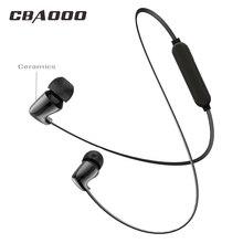CBAOOO TC01S Ceramic Bluetooth Earphone Bass In Ear wireless Stereo Sport Headsets C10 Metal Magnet earphones