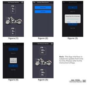Image 5 - 휴대 전화 app 감지 오토바이 블루투스 타이어 압력 모니터링 시스템 tpms chadwick tp200 새로운 2 외부 센서 모터