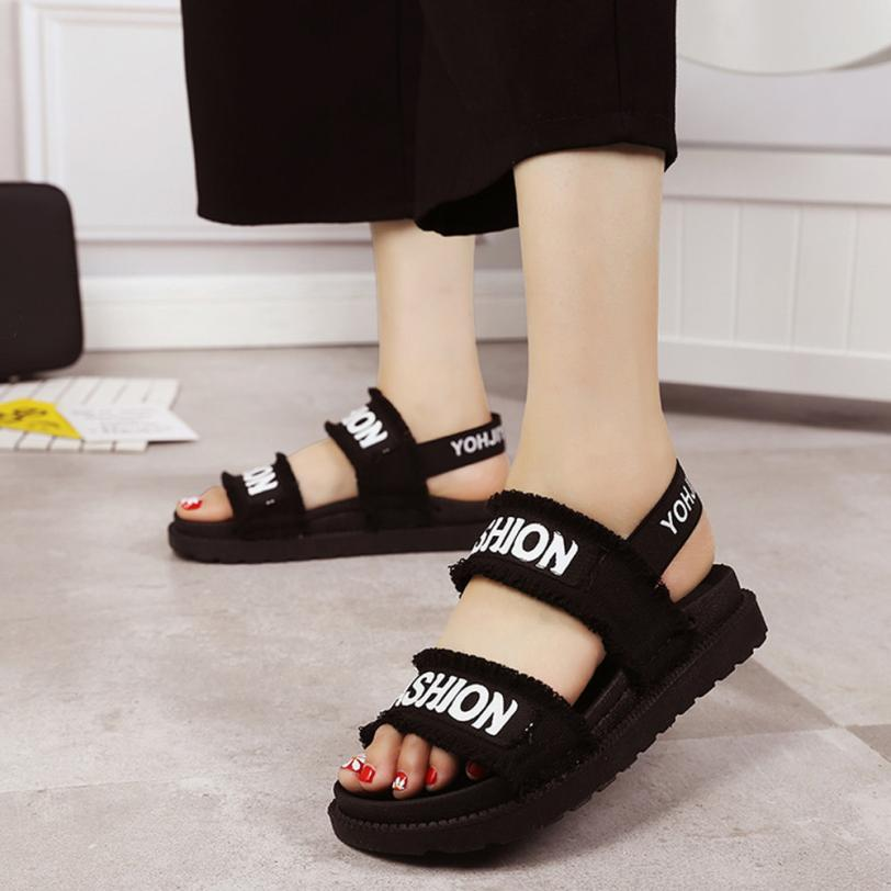 YOUYEDIAN (Ship from RU)Summer Gladiator Women Flat Fashion Shoes Casual Occasions Comfortable sandalias mujer 2018 #A30 4