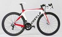 Costelo RB 1 к один дорожный велосипед карбоновое волокно дорожный велосипедная Рама с вилкой зажим подседельный штырь карбоновая дорожная вело