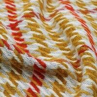 50x150 cm/adet Sarı Kırmızı Beyaz 30% Yün Yünlü Onay Için Yüksek Kaliteli Manuel El Yapımı Kumaş Bez çanta Çerçeve Çanta DIY Dikiş