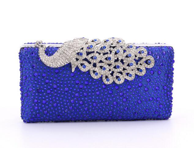 ФОТО Luxury Peacock Diamonds Rhinestone Evening bags Fashion Chain Shoulder bag Clutches Bride Party Day cluthes single shoulder bags