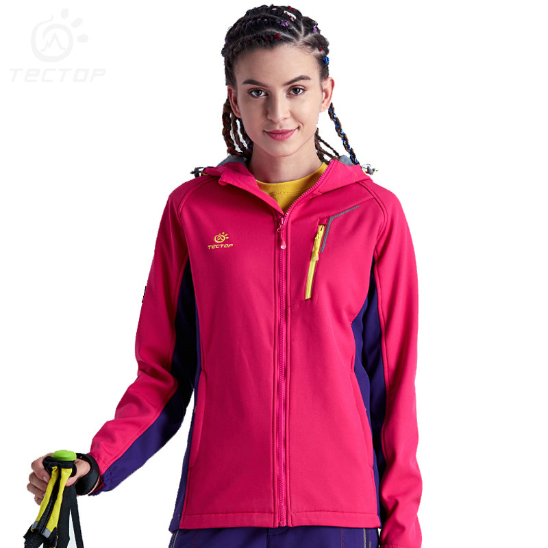 Softshell Jacket Women Thermal Windproof Camping Hiking Jackets Female Quick Dry Breathable Outdoor Sport Jacket Women 2 pieces winter thermal waterproof camping jackets outdoor quick dry breathable hiking jacket men women clothes windbreaker 8029